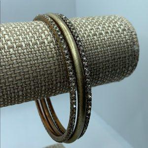 Brass Gold Sequin Bracelet Set of 3